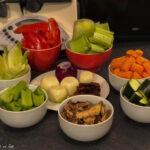 Bild vom geputzten und klein geschnittenem Gemüse